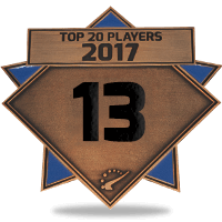 #13 best player in 2017